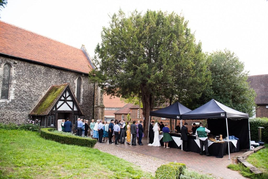 Festival style wedding food for Surrey wedding