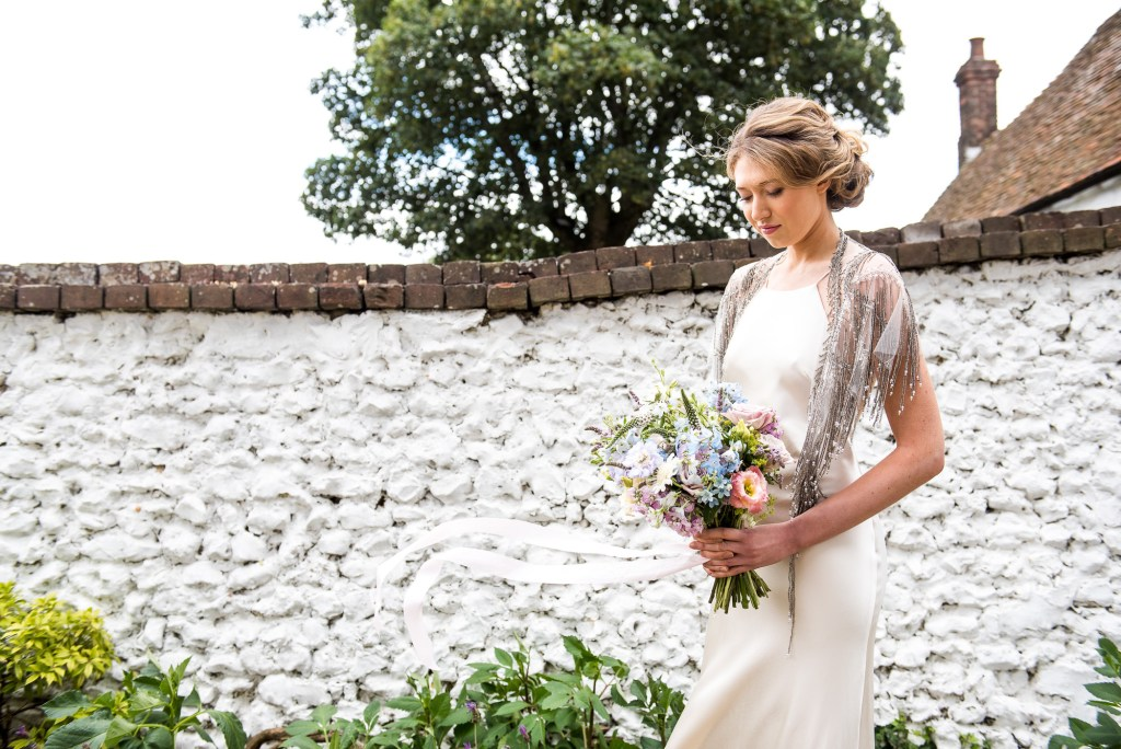 Botley Hill Barn Farm styled shoot with pastel coloured bouquet