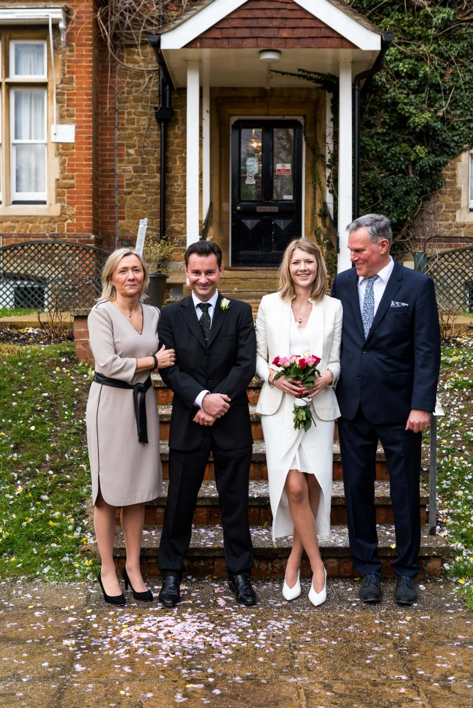 Natural and candid group photography for Artington House wedding