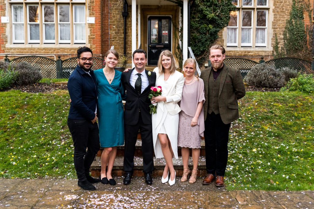 Natural and candid wedding photography Artington House wedding