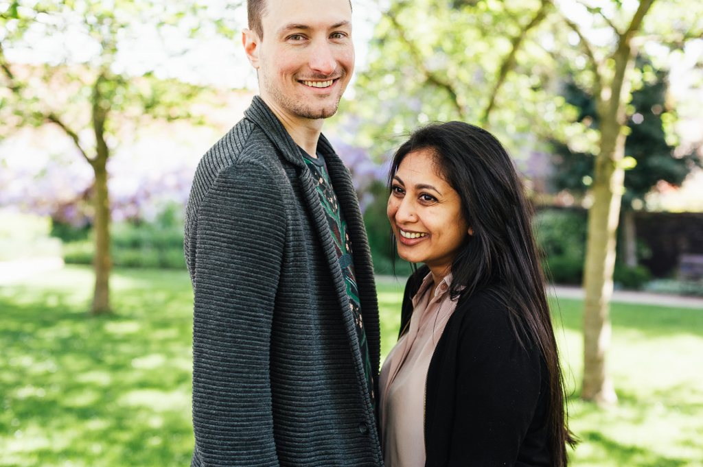 Creative and natural engagement photography