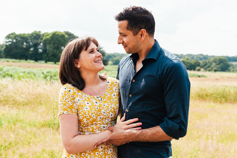 Natural Couples portrait for Richmond family photography shoot