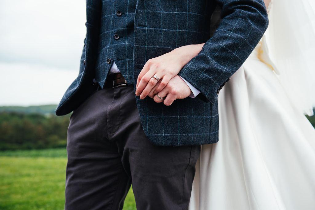 Creative wedding ring photograph