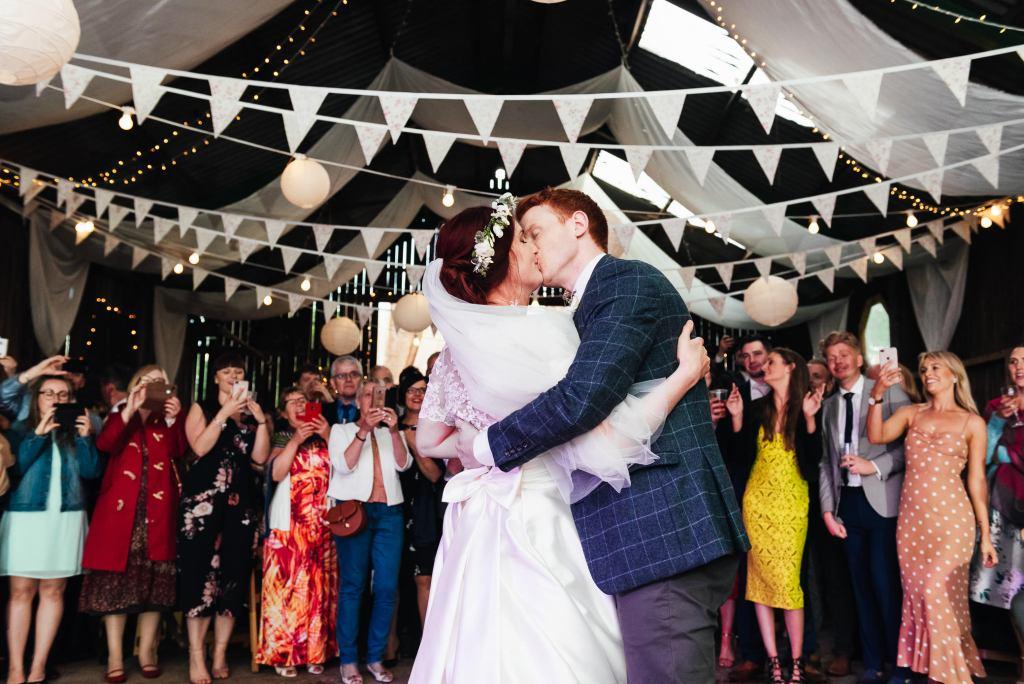 First dance for Deepdale Farm wedding