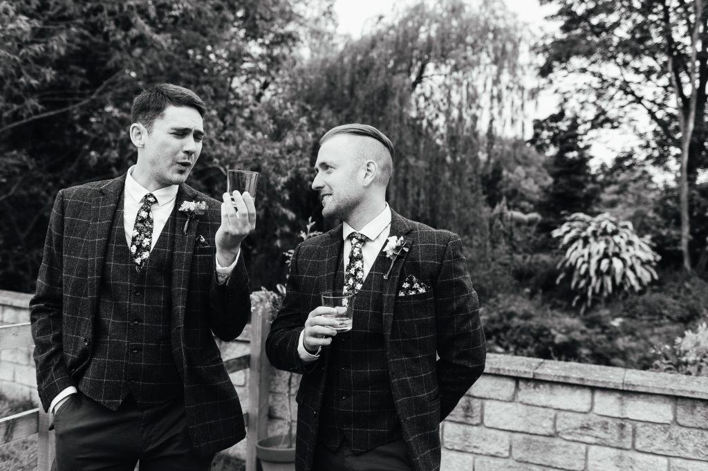 Candid groomsmen photography