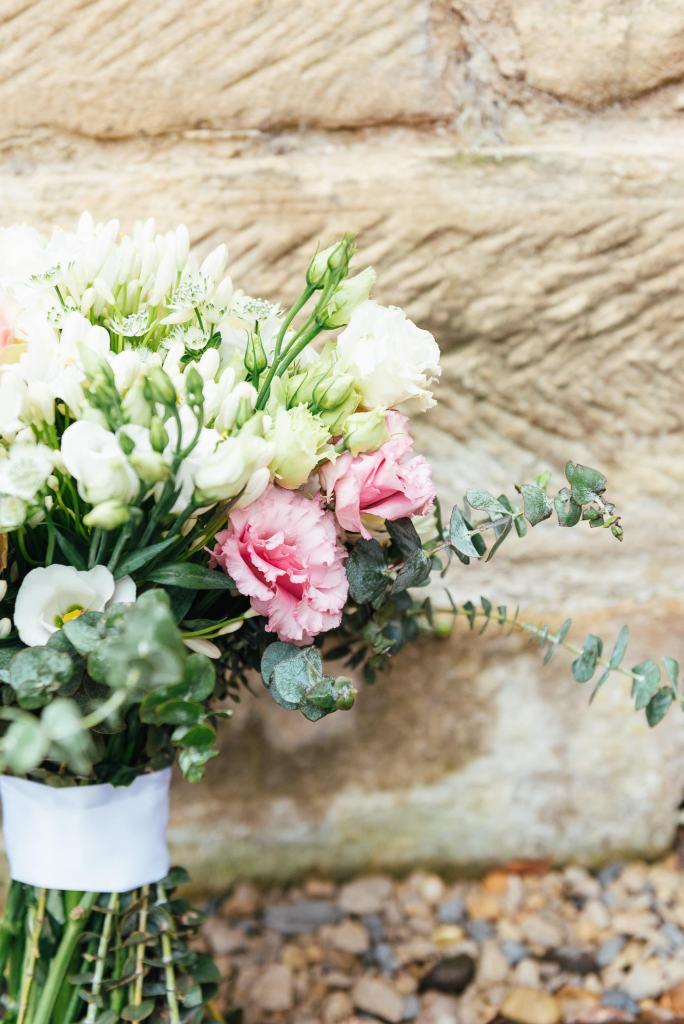 Homemade wedding floral bouquet