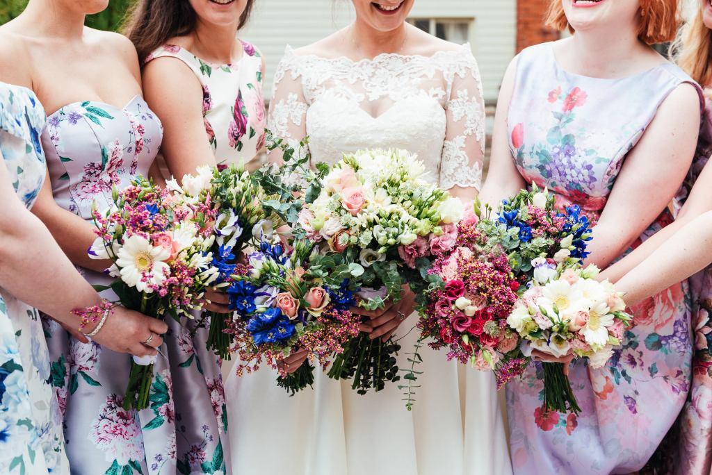 Handmade wedding bouquets for Deepdale Farm wedding