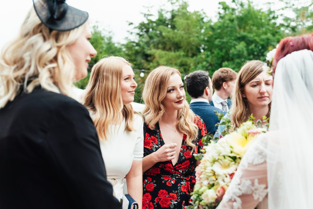 Natural and candid wedding guest photography