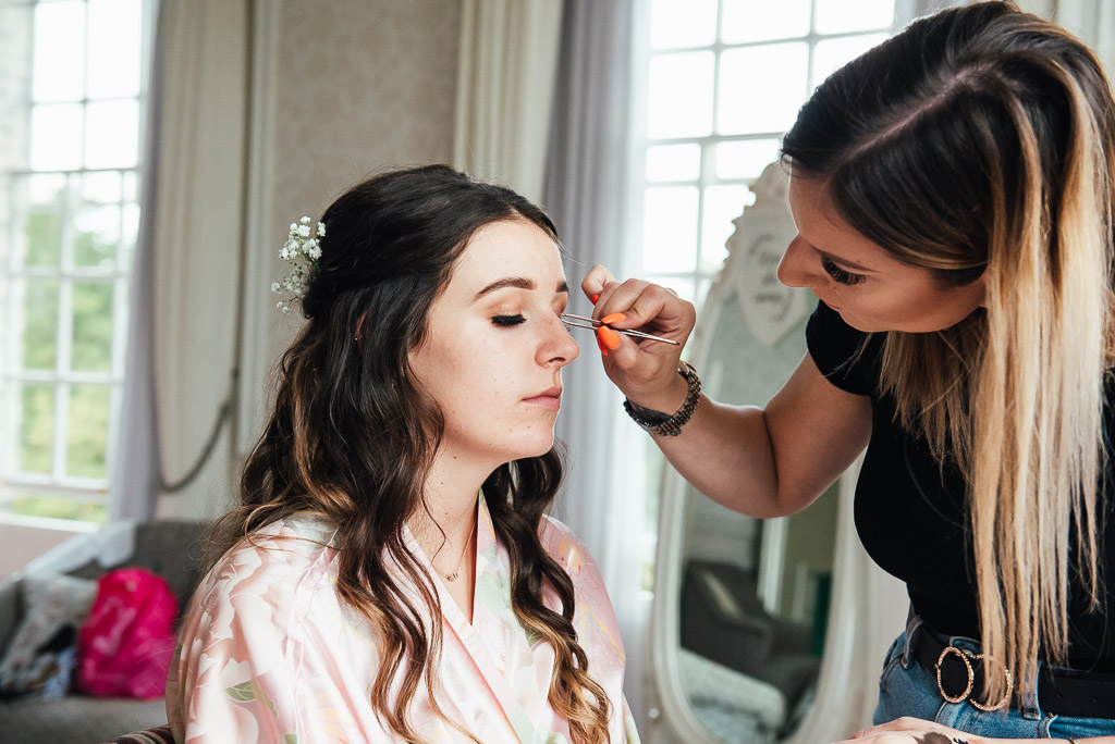 Bridesmaid wedding day make up preparation