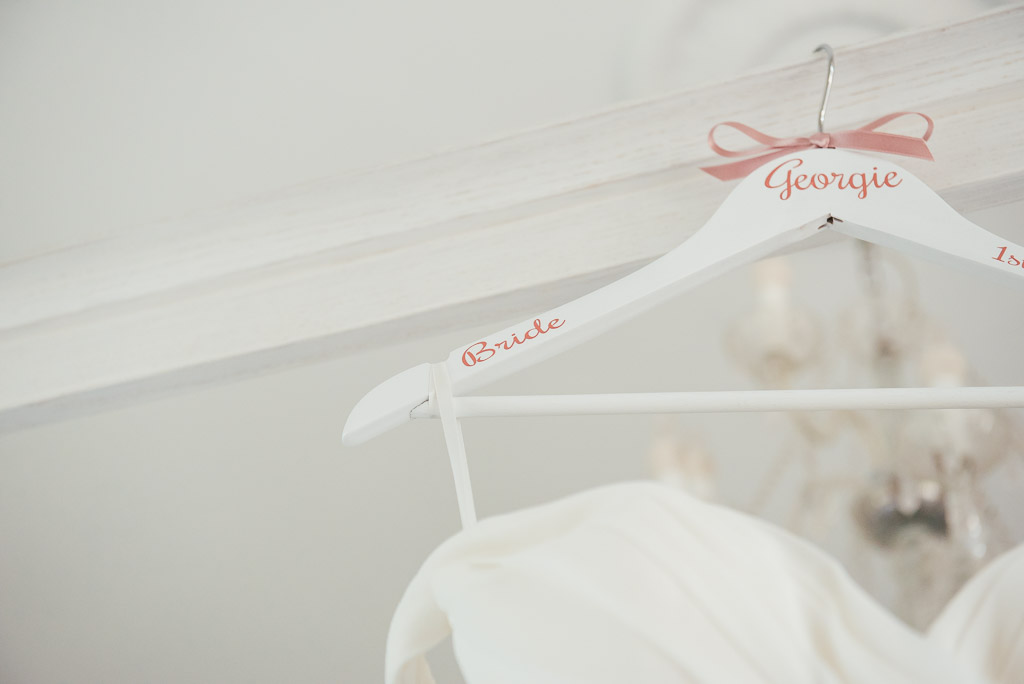 Bespoke wedding dress hanger