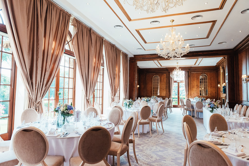 Wedding breakfast room at Hedsor House