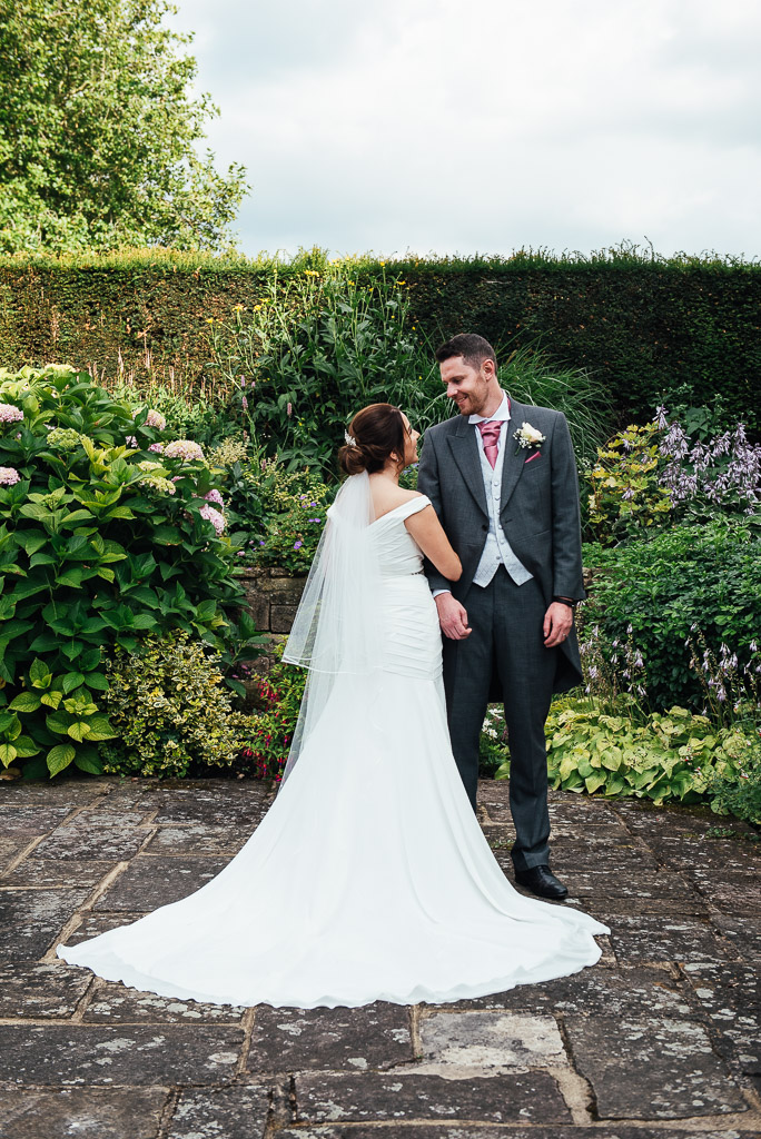 Natural wedding portrait in the grounds of Hedsor House