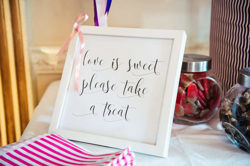 Bespoke sweet cart sign