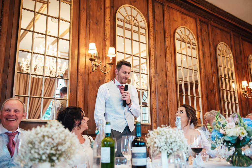 Groom gives a beautiful speech