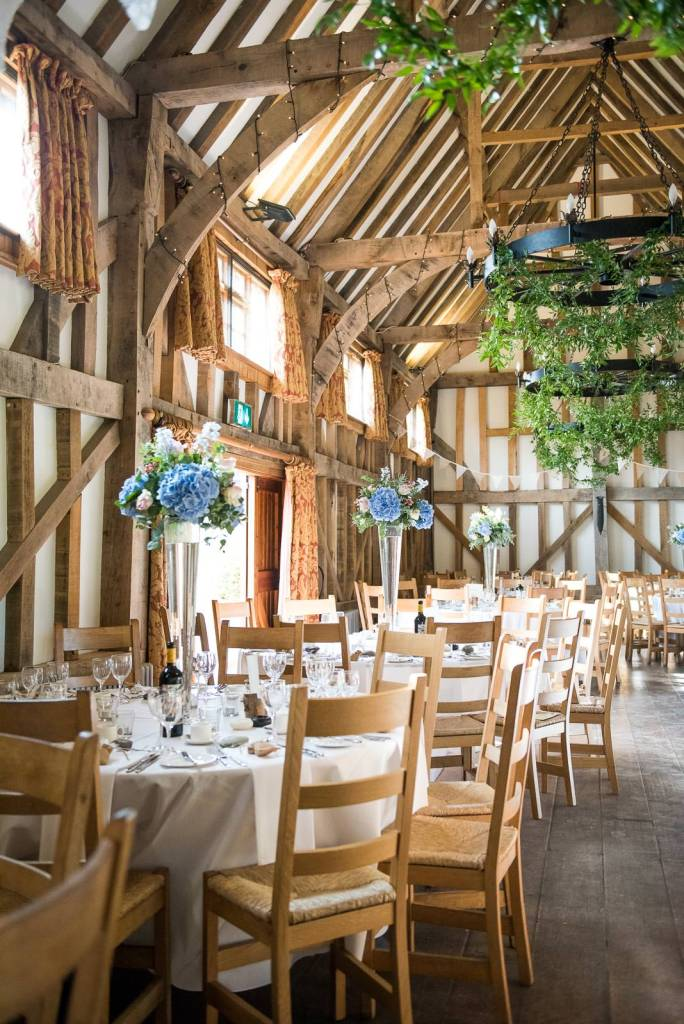 Surrey Wedding Venues, interior of Gate Street Barn