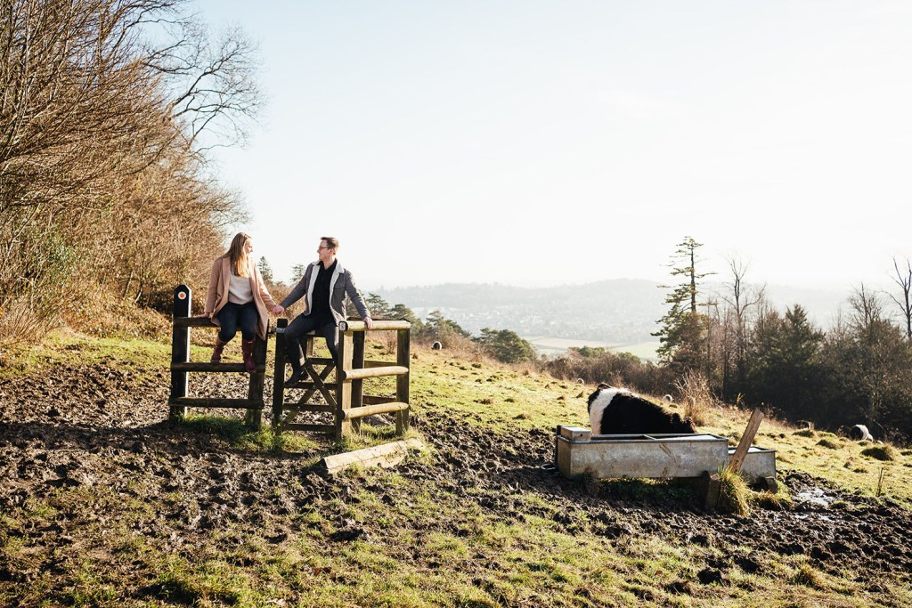 Natural Surrey engagement photography