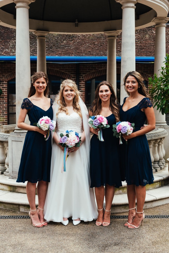 Bridal party group photography
