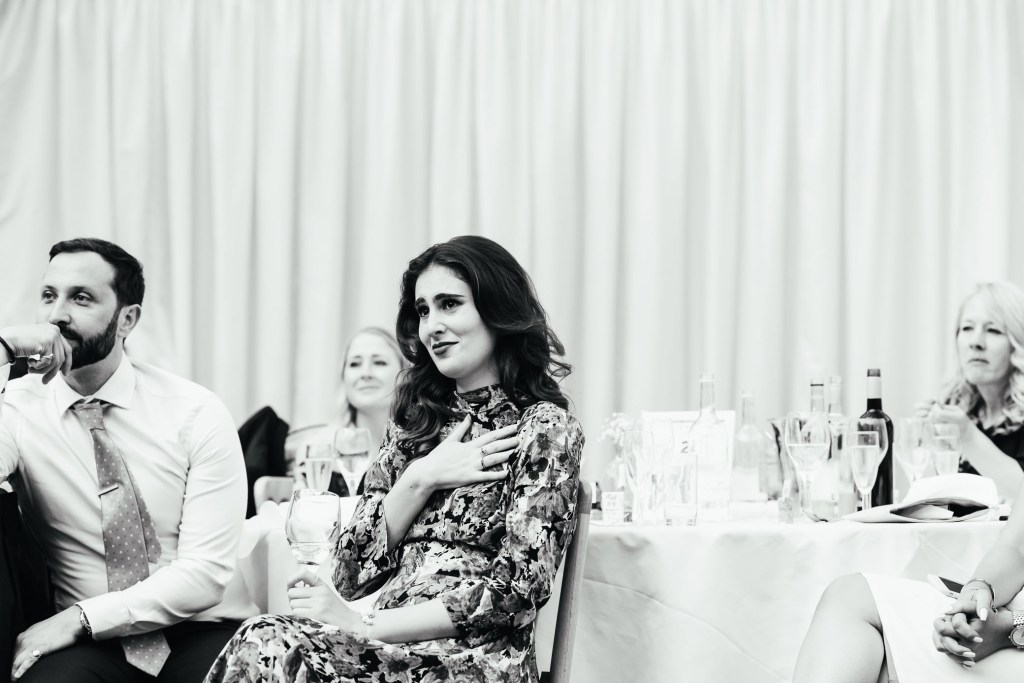 Emotional wedding guest reactions