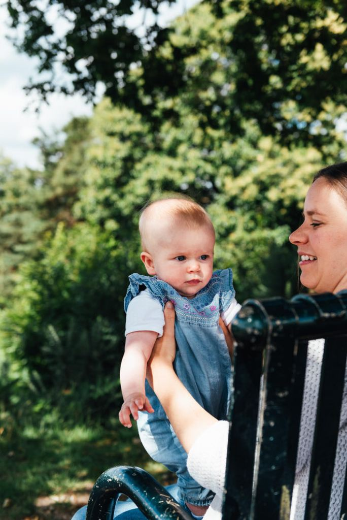 Natural mother and daughter portrait, outdoor newborn photography