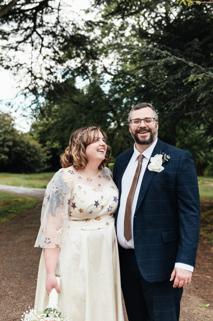 Natural and relaxed wedding portrait