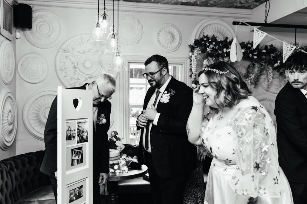 Candid Intimate surrey Wedding Reception
