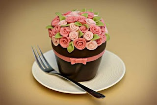 Happy Birthday Flower Pot Cake