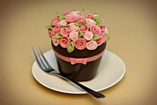 Surprising Happy Birthday Flower Pot Cake Jessica Harris Cake Design Funny Birthday Cards Online Alyptdamsfinfo