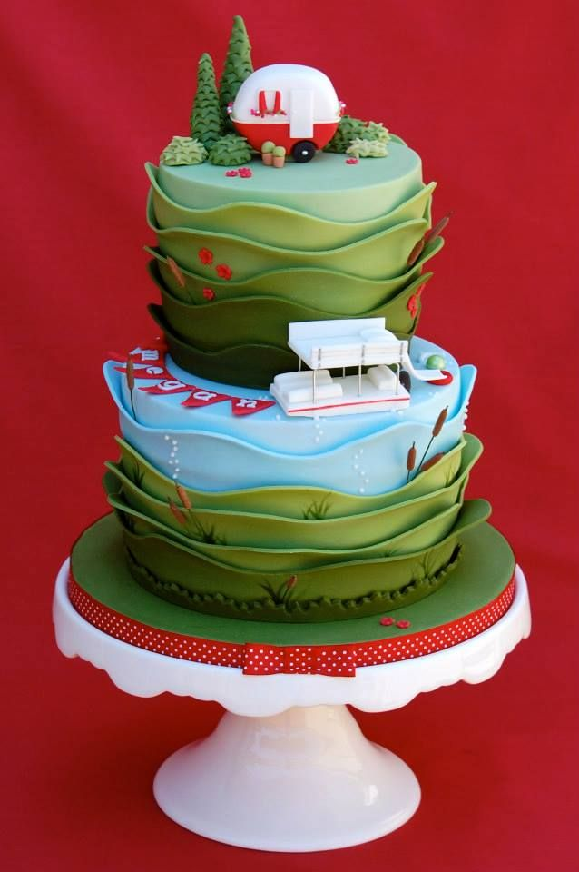 Camping Tent Baby Shower Cake And Tutorial Jessica