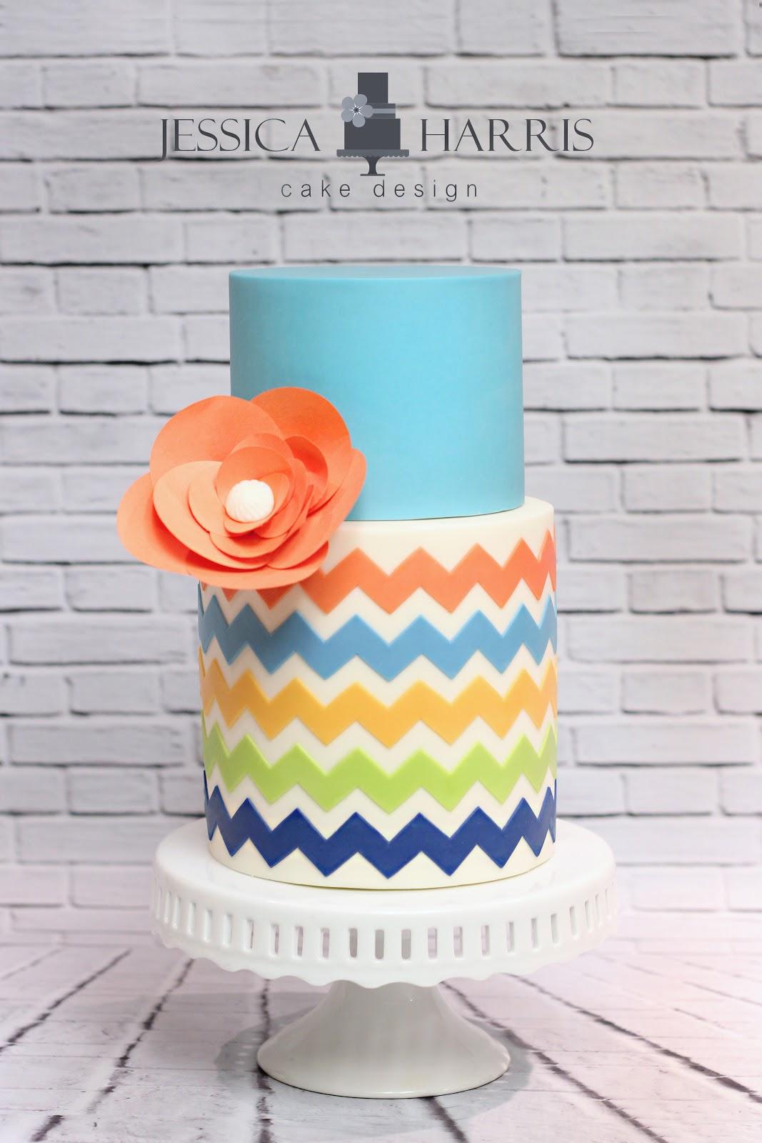 Template Tuesday Chevron Cake Design Jessica Harris Cake Design