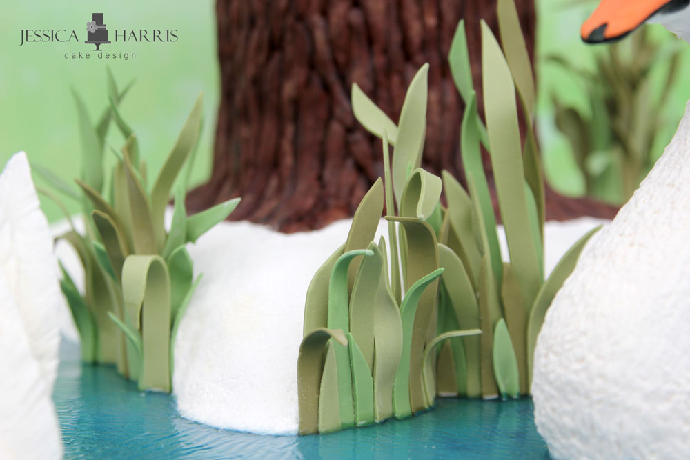 how to make grass out of fondant icing