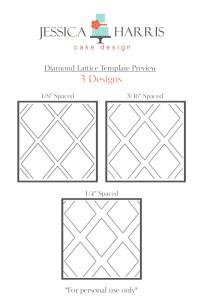 Diamond LatticeTemplate for three designs for shop