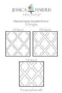 Diamond LatticeTemplate for three designs for shop