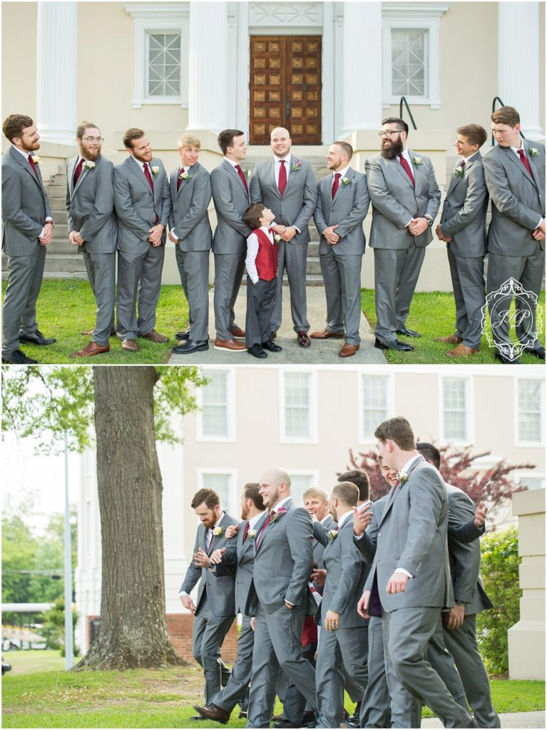 Elegant Southern Charcoal and Maroon Wedding_0019