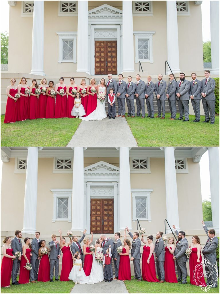 Elegant Southern Charcoal and Maroon Wedding_0052