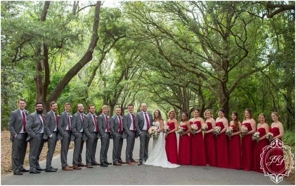 Elegant Southern Charcoal and Maroon Wedding_0060