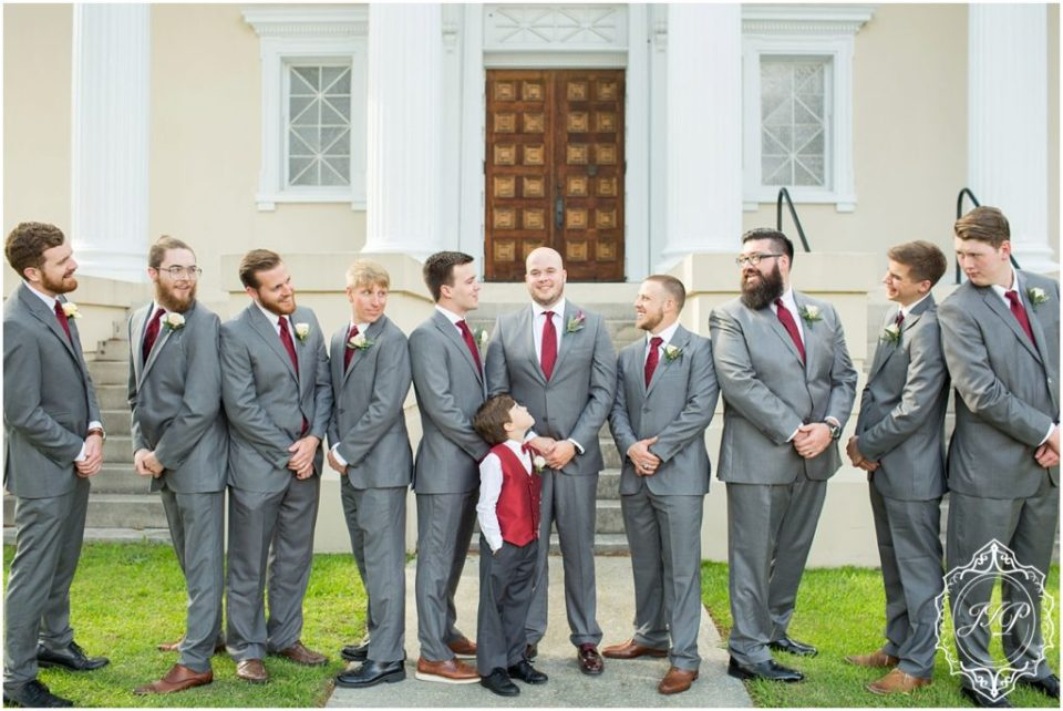 Elegant Southern Charcoal and Maroon Wedding_0111