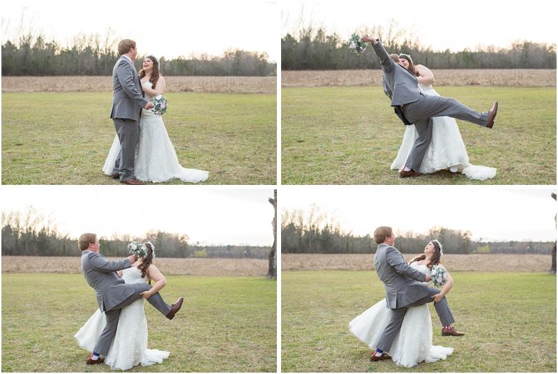Dip kiss wedding photo