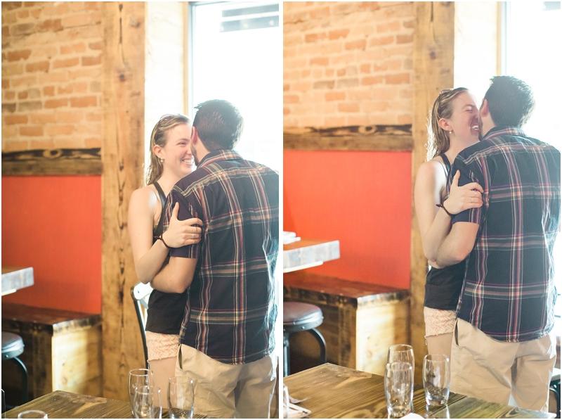 brunch surprise proposal reaction