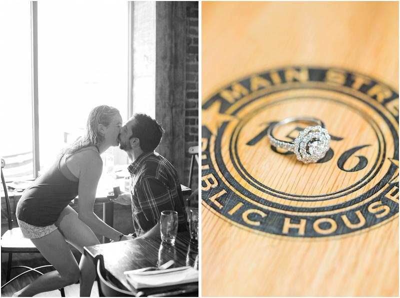 engagement ring proposal reaction