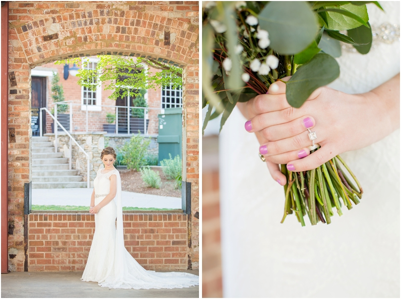 Clemson bride Falls Park