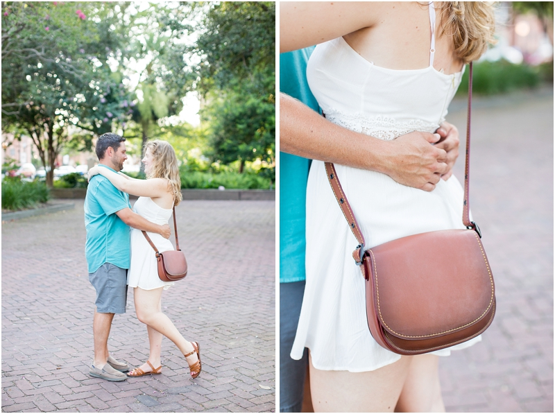 downtown summer Charleston SC engagement photos