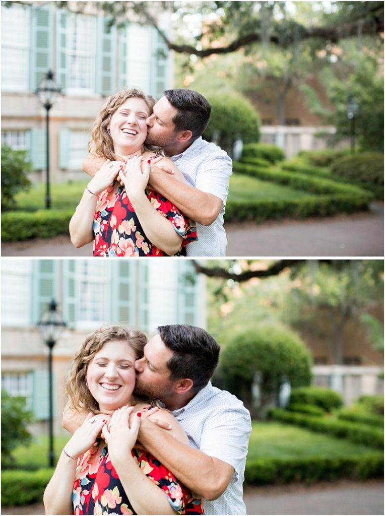 engagement photos at the Cistern Charleston SC