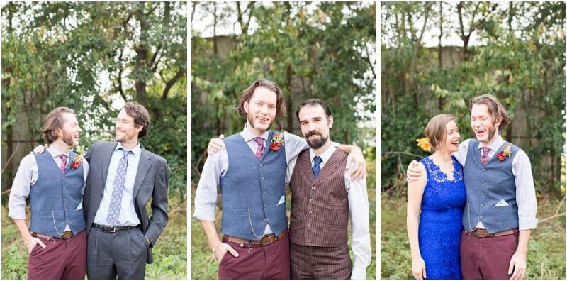 wedding reception in backyard