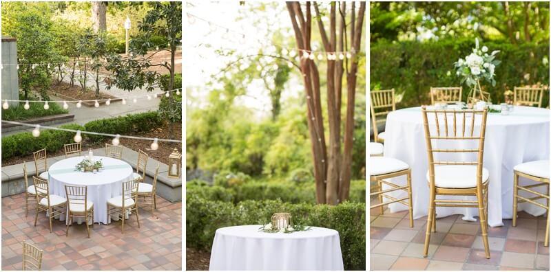 Outdoor Wedding reception Columbia SC