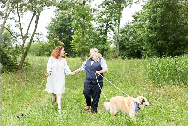 blue lesbian wedding suit vest and bowtie