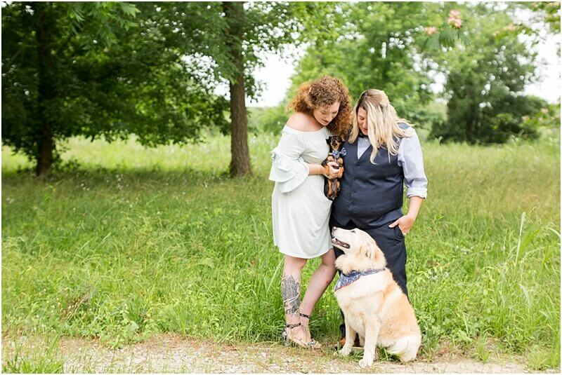 LGBTQ+ wedding photography with pets