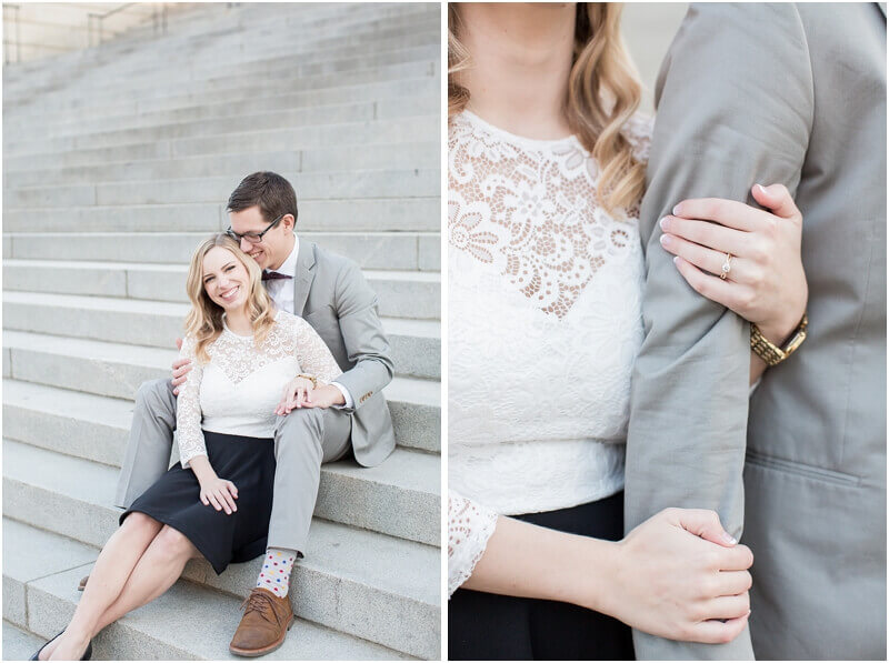 cute engagement photos sc state house steps
