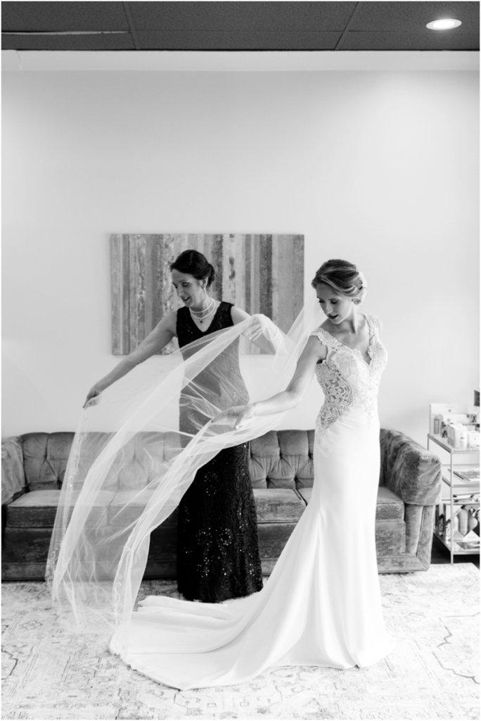 Basilica of St Peters Columbia South Carolina wedding photos mom daughter wedding moment