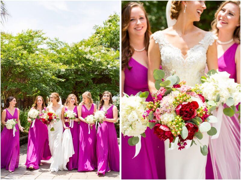 Basilica of St Peters Columbia South Carolina wedding photos bridal party wedding photos Columbia Sc