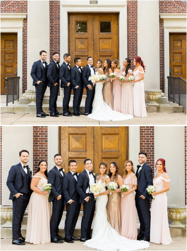 Holy Trinity Catholic Church wedding photos Morristown, New Jersey Wedding Party Photos Bridal Party